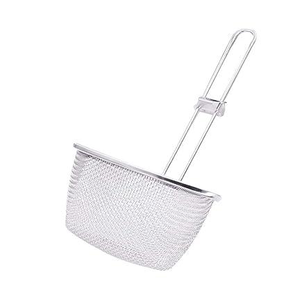 Espumadera de acero inoxidable, cucharón colador de malla de ...