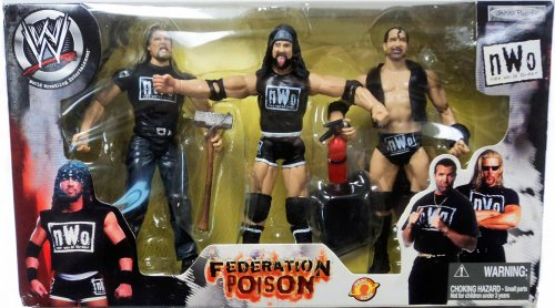WWE Wrestling NWO Federation Poison Action Figure 3-Pack Scott Hall , X-Pac & Kevin Nash by WWE