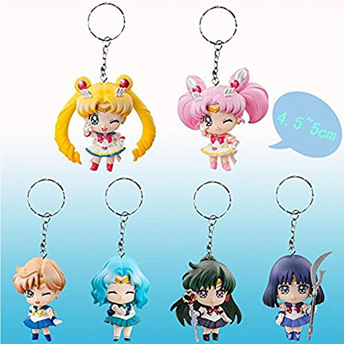 6pcs/set Best Keychains Action Figures PVC Collection Toys For Christmas Gift for Kids