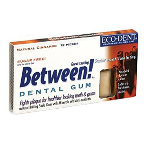 Eco-Dent Between Dental Gum, Cinnamon, 12 Count