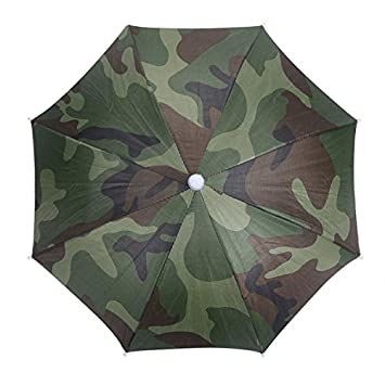 3e54b7b1298 WIDEN Camouflage Pattern Sun Rain Umbrella Hat Cap for Fishing Hiking Beach  Camping Outdoor Activities