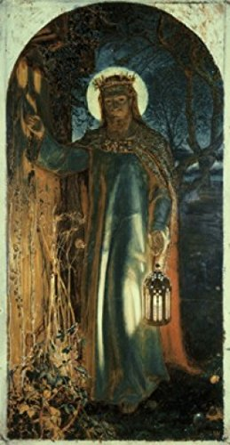 Posterazzi Jesus Light of the World 1854 William Holman Hunt (1827-1910 British) Oil on canvas Keble College Oxford England Poster Print (24 x 36) (Holman Hunt Light Of The World Keble College)