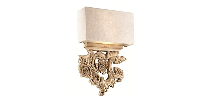 Applique classica da parete legno artigianale 2xe14 serie peter