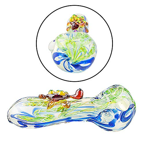 4.4 Inch-Pipe Newest Cute Turtle Glassworks Handmade Style Glass (Color As Shown)