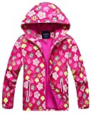 Welity Girl's Full Zip Warm Fleece Lined Waterproof Hoodie Jacket Coat