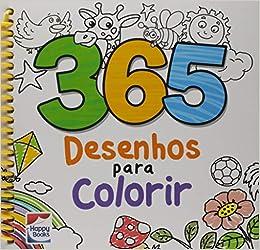 365 Desenhos Para Colorir 9788595033207 Livros Na Amazon Brasil