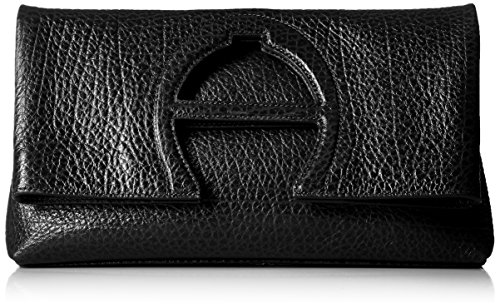 Etienne Aigner Bombe a Clutch Handbag, Black (Etienne Aigner Leather Purse)