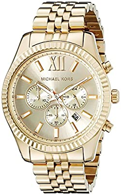 Michael Kors Lexington Gold-Tone Stainless Steel Watch MK8281 by Michael Kors Watches MFG Code