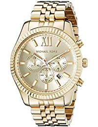 Lexington Gold-Tone Stainless Steel Watch MK8281