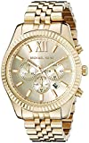 Image of Michael Kors Lexington Gold-Tone Stainless Steel Watch MK8281