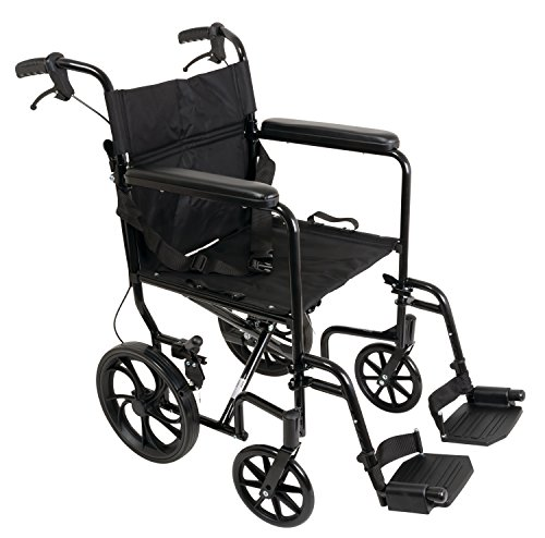 """ProBasics Transport Chair Wheelchair, Aluminum, 19"""" with ..."""