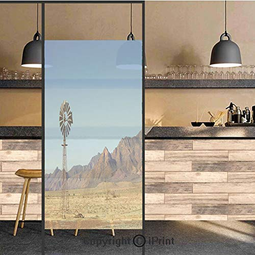 3D Decorative Privacy Window Films,Flinders Ranges South Australia Mountains Barren Land Summer Decorative,No-Glue Self Static Cling Glass Film for Home Bedroom Bathroom Kitchen Office 24x48 ()