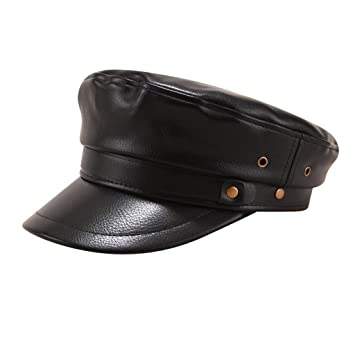 Gorra azul marino Newsboy pintor clásico Visor Militar Peaked Hat ...