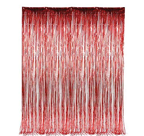 DollarItemDirect 36''X96'' RED FOIL Fringe Curtain, Case of 48
