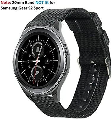 Olytop Compatible with Gear Sport / Garmin vivoactive 3 Bands, 20mm Nylon Canvas Fabric Replacement Sport Wristband For Samsung Gear Sport SM-R600 / ...