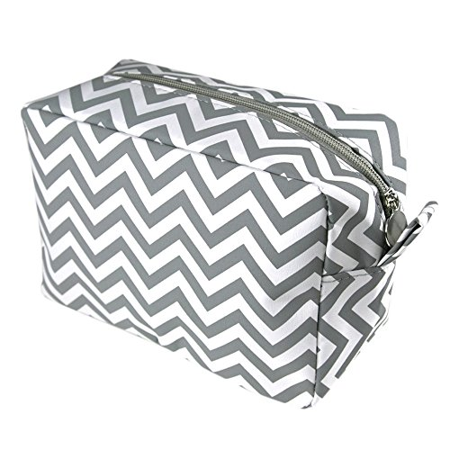 chevron-gray-make-up-cosmetic-tote-bag-carry-case-gray