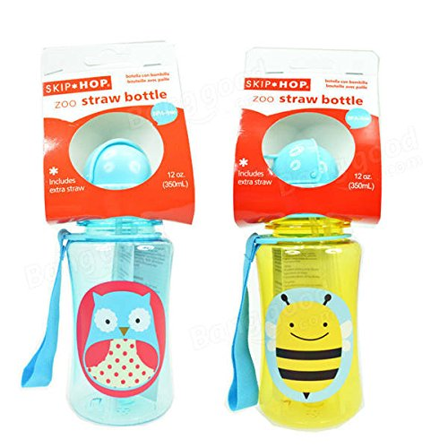 Infant - Baby Kid Lovely Cartoon Animal Straw Cup Water Bottle Toxic Drinking - Immature Infantile Babe Child - 1PCs