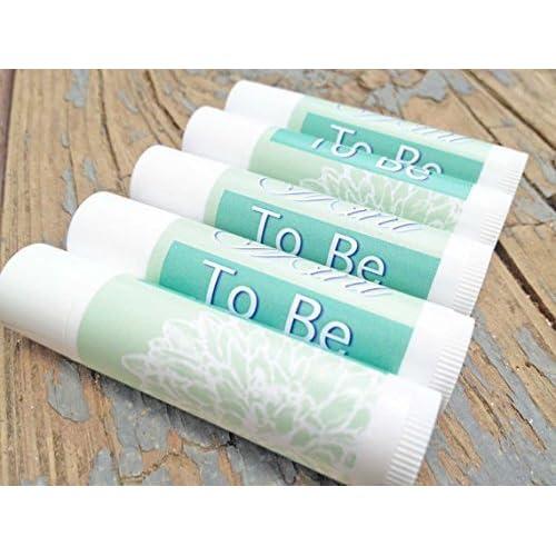 lovely 12 mint to be wedding favor lip balms lip balm wedding favors mint