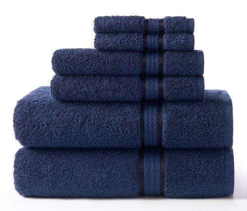 Cotton Craft Ultra Soft 6 Piece Towel Set Night Sky, Luxurio