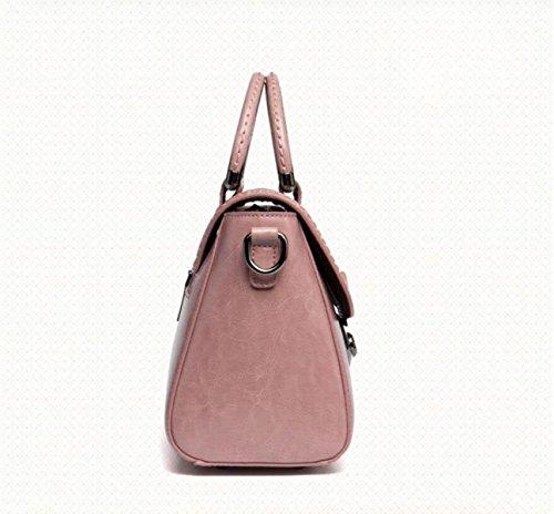 à Bandoulière Bandoulière à Fashion Main Cuir Cuir Messenger Sac Lock Bag Bag En à En Sac Sac Black wF50qpp