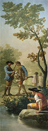 'Goya Y Lucientes Francisco De The Fisherman With His Rod 1775 ' Oil Painting, 18 X 48 Inch / 46 X 123 Cm ,printed On Perfect Effect Canvas ,this High Resolution Art Decorative Canvas Prints Is Perfectly Suitalbe For Study Decor And Home Gallery Art And Gifts
