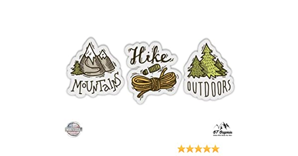 Take A Hike Outdoors Decal White Choose Size