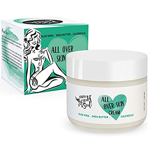 Aloe Vera Dry Skin Relief Cream - 70% Organic Aloe Herbal Formula - Renewing Skin Repair For Face & Body - Natural Psoriasis & Eczema Therapy - Non-greasy and Fast Absorbing - LG - Clair Lightening