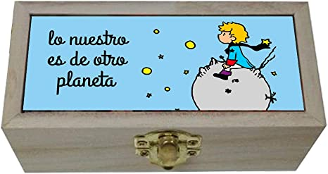 Caja El Principito. Regalo original. San Valentín, cumpleaños, enamorados, amistad. Lo nuestro es de otro planeta.: Amazon.es: Bebé