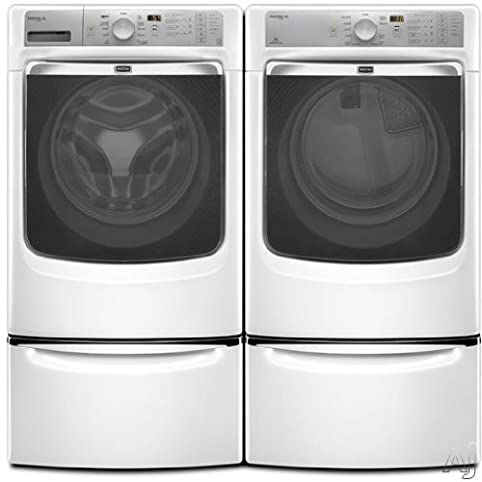 maytag maxima xl front load steam washer and steam dryer set electric dryer