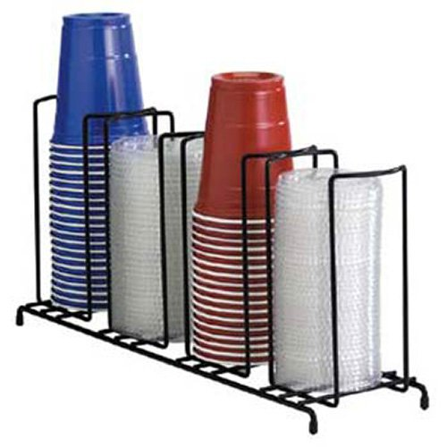 Dispense-Rite WR-4 Wire Cup Dispenser and Lid Dispenser Up to 44 oz., 4 Sections Dispense Rite Cup Dispensers