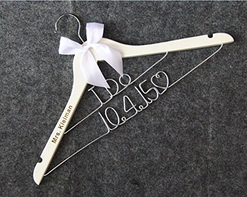 I DO Wedding Hangers-Custom Name and date Personalized Bridal Dress Hanger Gifts for Bride Mother of the Bride's Gifts gifts for groom