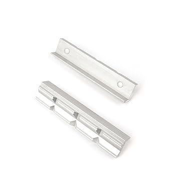2 Stück Schraubstock Schutzbacken Alu//Gummi Schonbacken Mit Magnet Spann-Backen