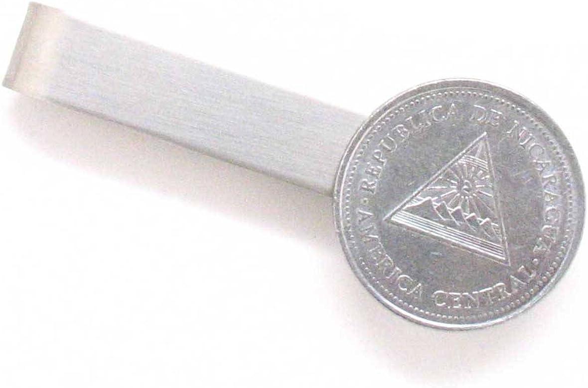 Nicaragua moneda Tie Bar Clip Tiebar tieclip Suit pintada a mano ...