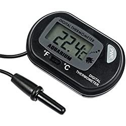 Zacro DT246 LCD Digital Aquarium Thermometer, Water Terrarium Temperature for Fish Tank