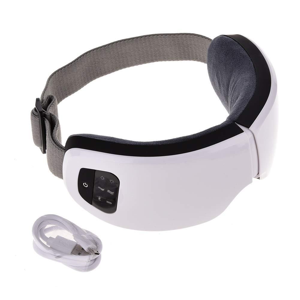 アイマッサージャーコードレス電動アイマスクマッサージで指圧マッサージ熱振動空気圧縮音楽用頭痛ストレス解消アイリラックス旅行オフィスホームカー   B07QQYGQFD