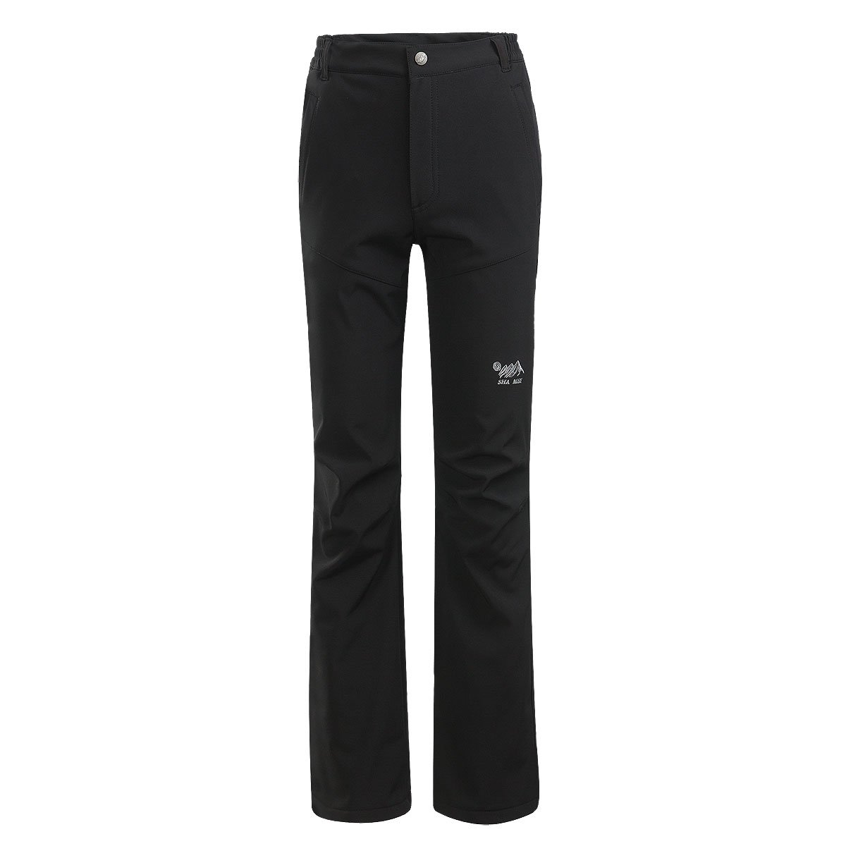 SHA MEI Women's Water Resistant Comfort Loose Long Outdoor Casual Sports Pants (Large, Black)