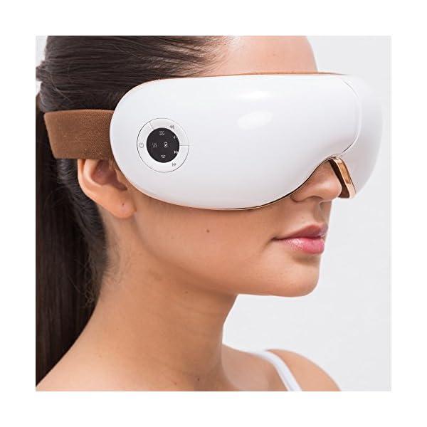 SKANDAS® Massaggiatore per occhi (modello 2020) - Maschera elettrica per occhio – Massaggiatore bicchieri con massaggio… 2 spesavip