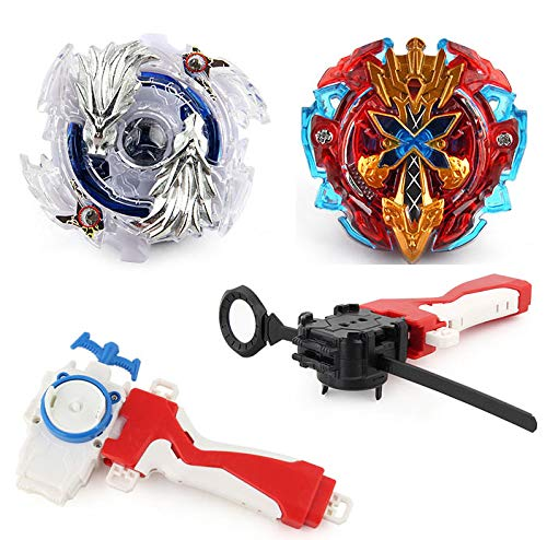 - Bey Battle Burst 2 in 1 Metal Fusion Battling Tops with 4D Launcher Grip Battle Set