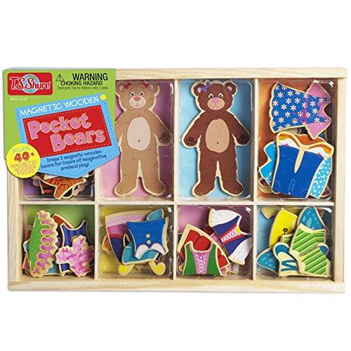 ノーブランド品 T.S. Shure社製 知育玩具 クマの木製マグネット着せ替えドールのセット 着せ替え人形 木のおもちゃ プレイセット おもちゃ [並行輸入品]   B01E8MTWTA