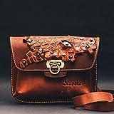 Small Shoulder Bag Cross body Handbag Hip bag Fanny pack Women bag purse Pocketbook Leather Hip Bag Dragon Eye