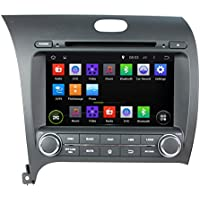 KUNFINE Android 6.0 Otca Core Car DVD GPS Navigation Multimedia Player Car Stereo For KIA CERATO K3 FORTE 2013 2014 2015 2016 Steering Wheel Control 3G Wifi Bluetooth Free Map Update 8 Inch