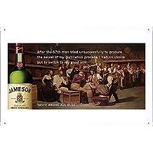 Jameson Whiskey: Legendary Tales of John Jameson, 4 Metal Plate Tin Sign Poster Wall Decor (20*30cm) By Jake Box