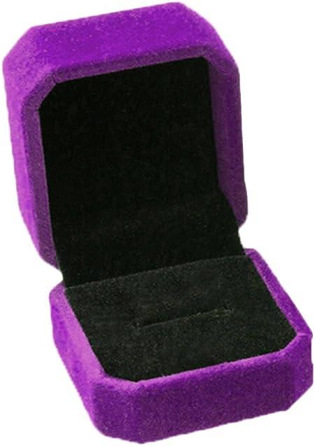 Mackur - Caja de Regalo para Collar, Pendientes, Anillos, Cajas, para Boda, Compromiso, 1 Pieza, Morado, 5.0 * 5.5 * 4CM: Amazon.es: Hogar