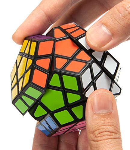 (Speed Cube, 12 Sided Pentagonal Dodecahedron Profession Cube Puzzle Toy, Easy Turning Smooth Play, Solid, Durable Vivid Colors)