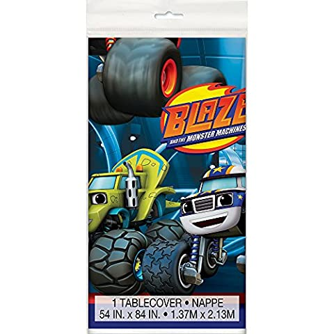 Blaze and the Monster Machines Plastic Tablecloth, 84