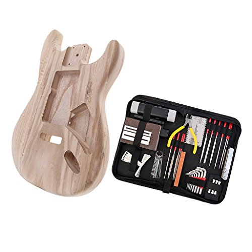 MagiDeal Exquisite Wooden Unfinished Guitar Body with Guitar Repair Tools DIY for Strat ST Electric Guitar Parts by non-brand (Image #7)
