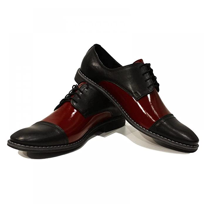 Black & Burgundy Elegant Men's Shoes - Handmade Colorful Italian Leather  Oxfords Unique Lace Up Dress Men's Shoes: Amazon.ca: Shoes & Handbags