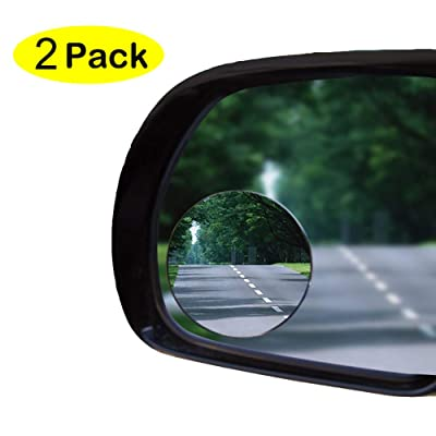 "2"" Blind Spot Mirror Oval Convex Stick-On Rear View and REAL Glass Mirrors-GUARANTEED - ALUMINUM Housing not plastic, Rust Resistant, for Motorcycle, ATV, Boat, Car, SUV - WIDE ANGLE No More Blindspots: Automotive"