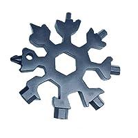 PROKTH Multitools in Acciaio Inox Carta 18-in-1 cacciavite Portatile Strumenti Combinazione di Portachiavi a Forma di Fiocco di Neve Carta Multi-Strumento per Viaggi all'aperto Campeggio
