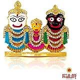 Kulin Lord Jagannath, Balabhadra, Subhadra Idol For Home Decor | Gifting Showpiece - 6.5 X 7.5 cm
